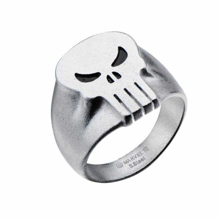 Punisher Skull Symbol Stainless Steel Silver Ring