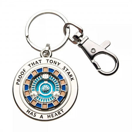 Iron Man Proof Tony Has a Heart Keychain