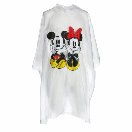 Mickey and Minnie Clear Youth Poncho