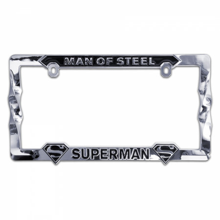 Superman 3D License Plate Frame