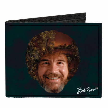 Bob Ross Canvas Bi-Fold Wallet