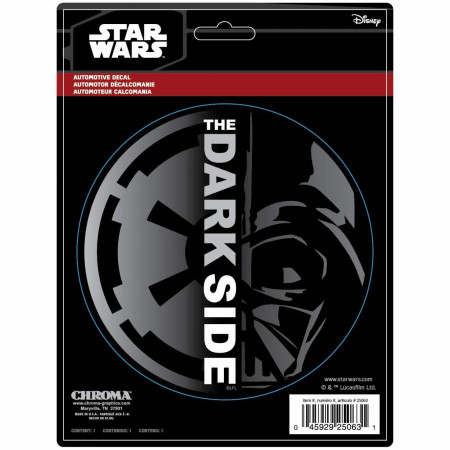 Star Wars Dark Side Darth Vader Car Emblem