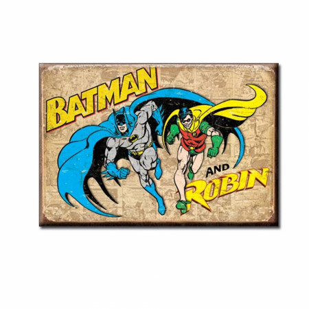Batman and Robin Retro 2x3 Magnet