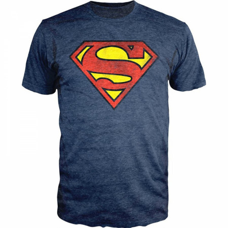 DC Comics Superman Logo Navy Heather T-Shirt