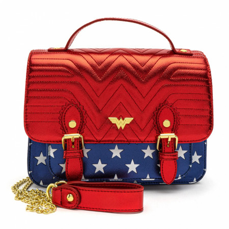 Wonder Woman Loungefly Metallic Faux Leather Crossbody Purse