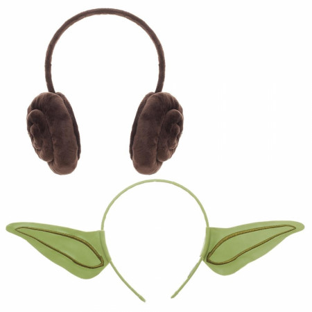 Yoda and Princess Leia Cosplay Headband Set