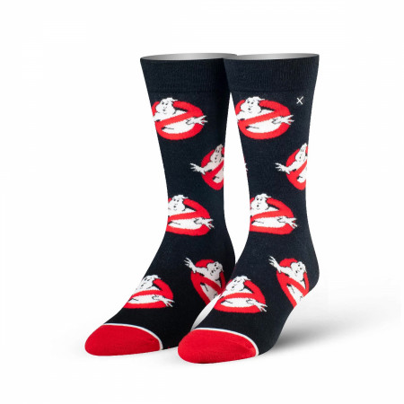Ghostbusters Black and Red Logo Socks
