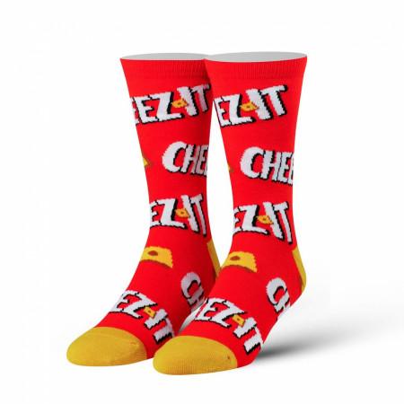 Cheez-It Cracker Logo Red And Orange Socks
