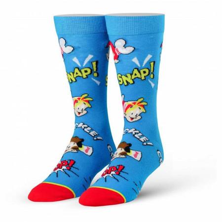 Rice Krispies Blue Snap Crackle Pop Cereal Socks