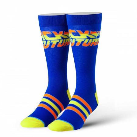 Back To The Future Blue Logo Socks