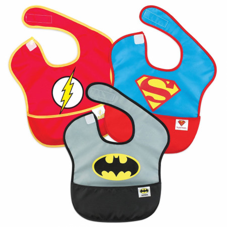 Justice League 3-Pack Bib Set