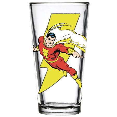 Shazam in Flight Pint Glass