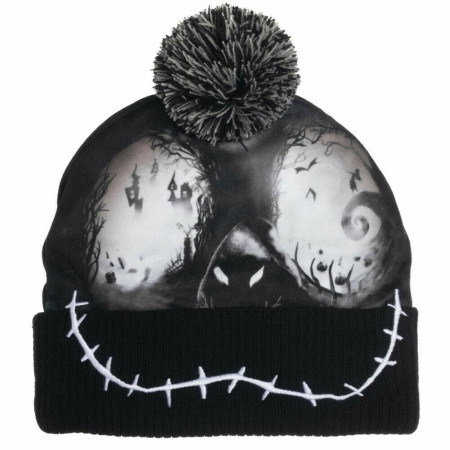 Nightmare Before Christmas Black Skull Beanie