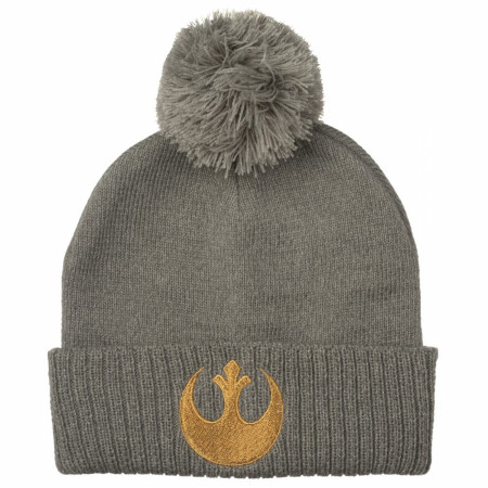 Star Wars Episode 9 Metallic Embroidered Pom Beanie