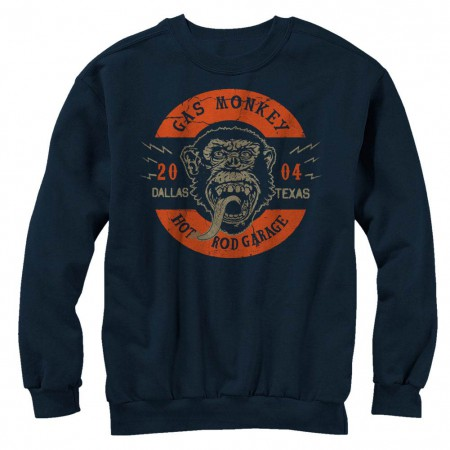 Gas Monkey Garage Full Circle Blue Long Sleeve T-Shirt