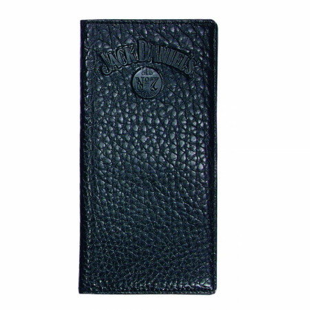 Jack Daniel's Rodeo Style Black Leather Wallet
