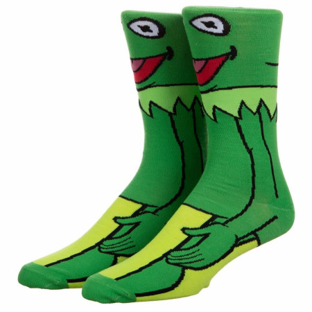 The Muppets Kermit 360 Character Crew Socks
