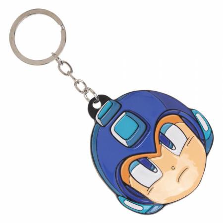 Mega Man Face Keychain