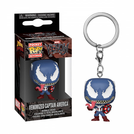Venom and Captain America Mashup Funko Pop! Keychain