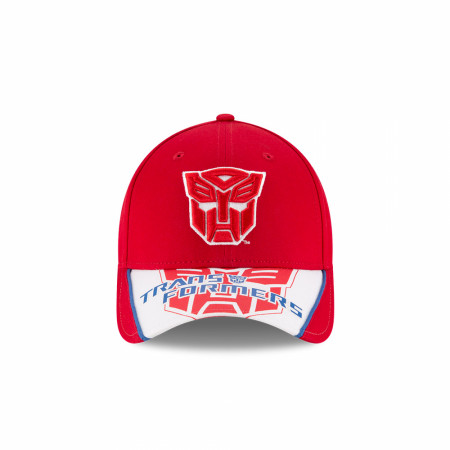Transformers Text and Autobot Logo New Era 9Forty Adjustable Hat