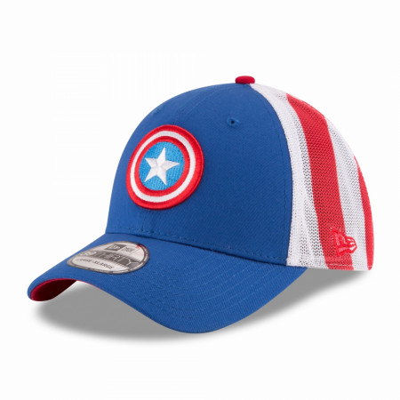 Captain America Wrapped Star Symbol New Era 39Thirty Fitted Hat