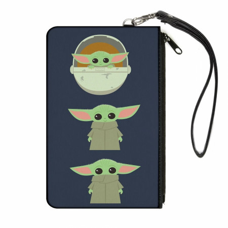 The Mandalorian Baby Yoda Chibi Women's Canvas Wallet