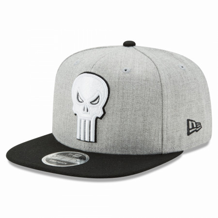 Punisher Symbol Heather New Era 9Fifty Adjustable Hat