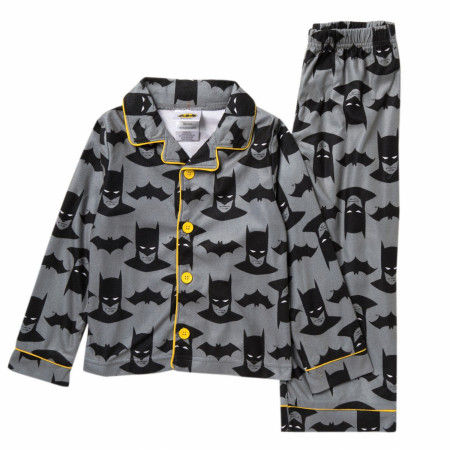 Batman Symbols and Heads All Over Print Toddlers 2-Piece Pajama Set