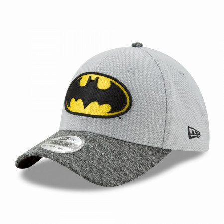 Batman Shaded Team Colors New Era 39Thirty Flex Fitted Hat