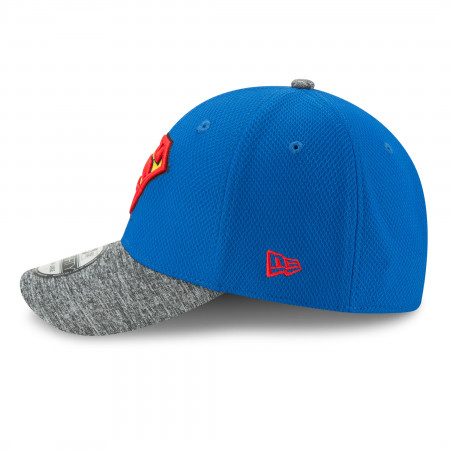 Superman Shaded Team Colors New Era 39Thirty Fitted Hat