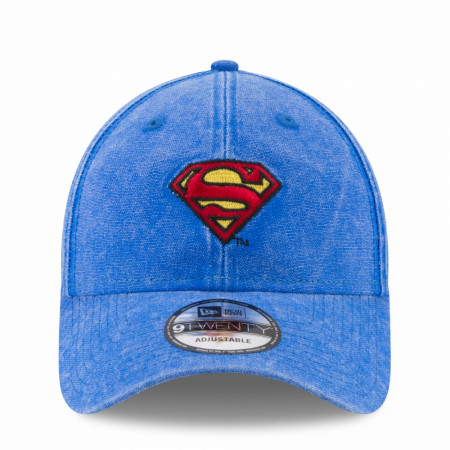 Superman Denim New Era 9Twenty Adjustable Dad Hat