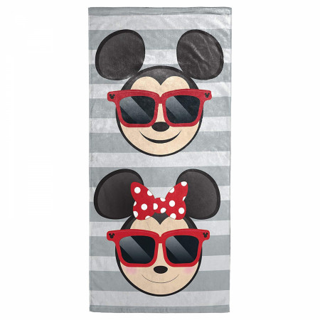 Disney Mickey and Minnie Sunglasses Beach Towel