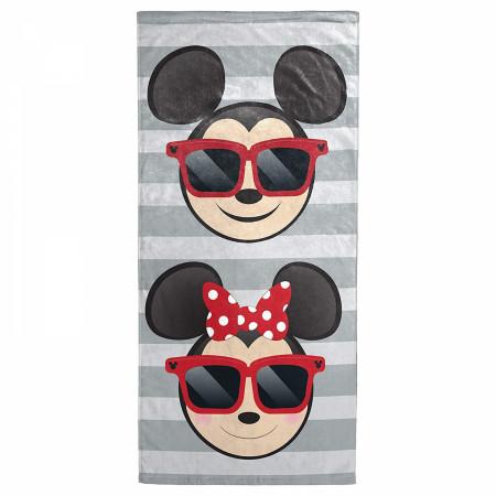 Disney Mickey and Minnie Sunglasses Beach Towel