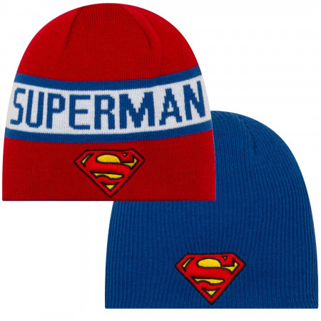 Superman Symbol Reversible New Era Beanie