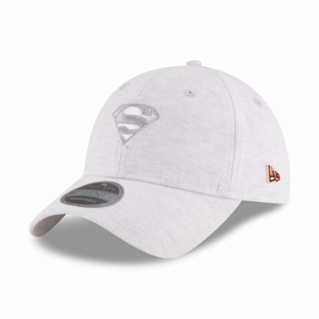 Superman Symbol Micro Stitch Grey New Era 9Twenty Adjustable Hat