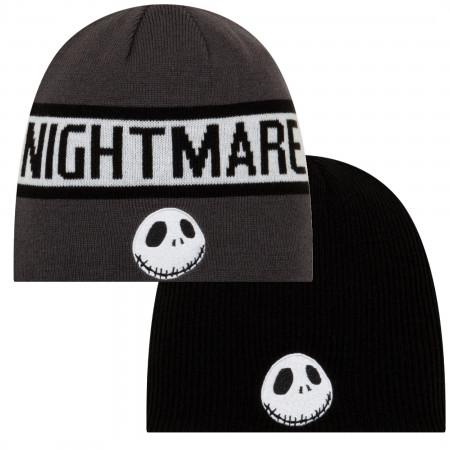Nightmare Before Christmas Jack Skellington Symbol Reversible Beanie