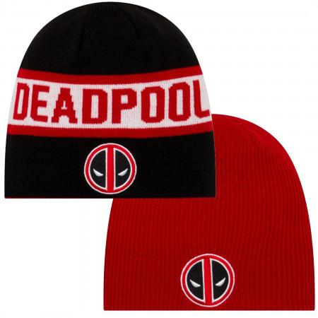 Deadpool Symbol Reversible Beanie
