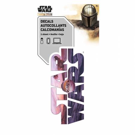 The Mandalorian Star Wars Logo Sticker
