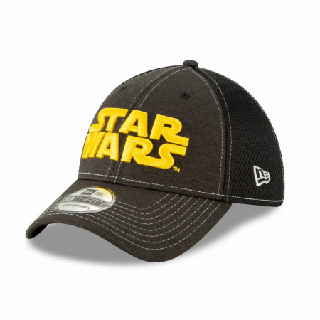 Star Wars Title Text Heathered New Era 39Thirty Fitted Hat