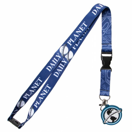 Superman Daily Planet Lanyard with Charm and Sticker