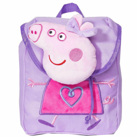 Peppa Pig Fashionable Girl's Purple Plush Backpack