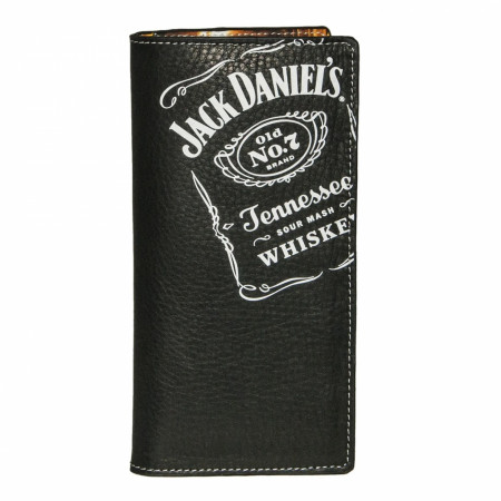 Jack Daniel's Rodeo Black Leather Wallet