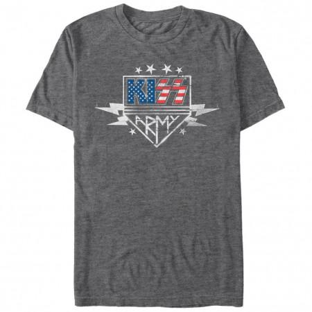 KISS Army Stencil Gray T-Shirt