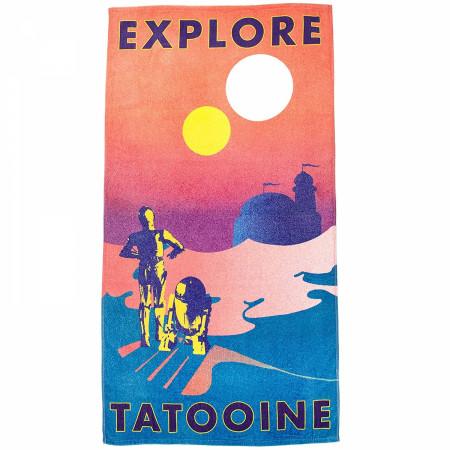 Star Wars Explore Tatooine A Desert Planet Beach Towel
