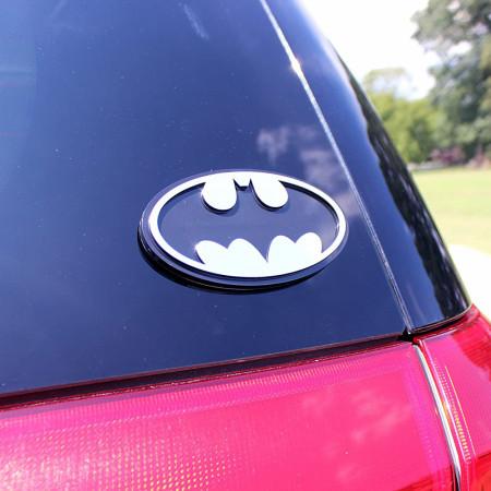 Batman Chrome Car Emblem