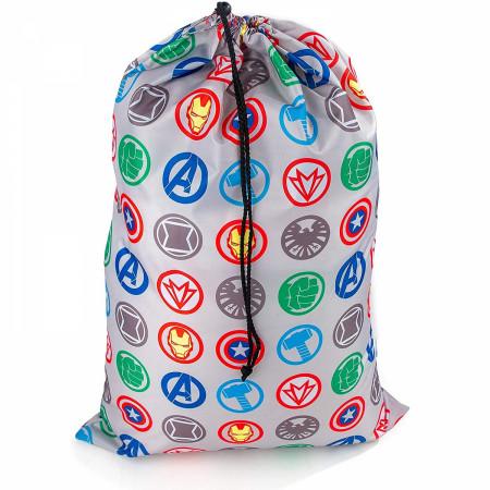Avengers United Character Symbols Drawsting Laundry Bag