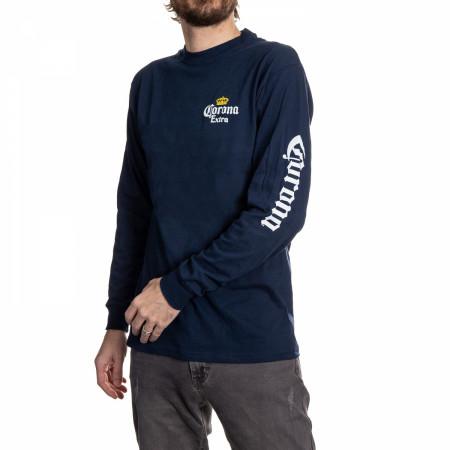 Corona Extra Stamp Back Long Sleeve Print T-Shirt
