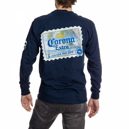 Corona Extra Stamp Back Long Sleeve T-Shirt