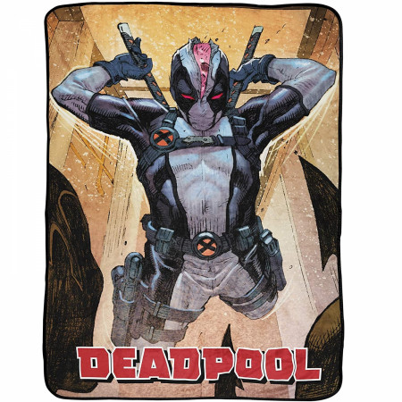 Marvel Deadpool X-Force Costume 46 x 60 Throw Blanket