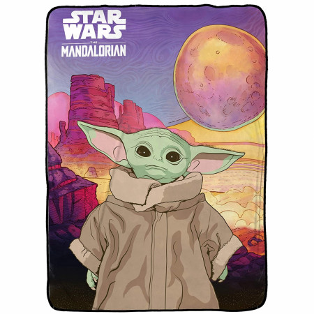 Star Wars The Mandalorian The Child Fleece Blanket